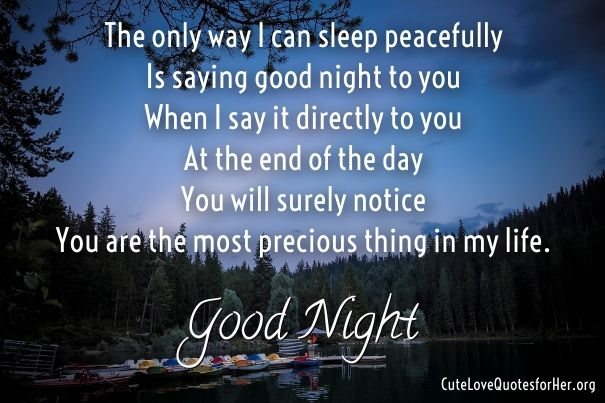 Good Night Poems For Wife Cute Love Poems For Her Him Love