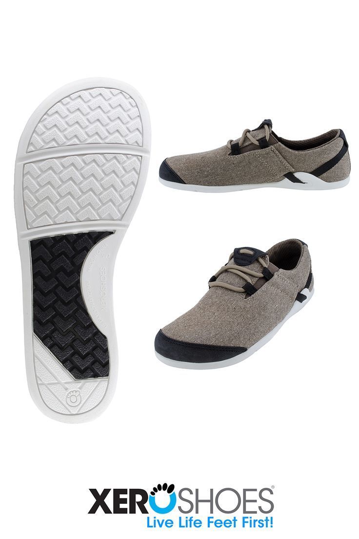 A women's casual minimalist canvas shoe. Vegan friendly materials and barefoot inspired fit with a z...