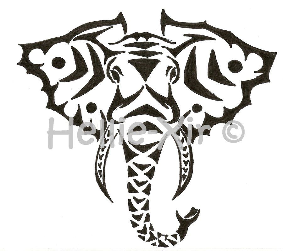 Tribal_Elephant_by_Hellie_Xir.jpg (900×801) | Henna ...