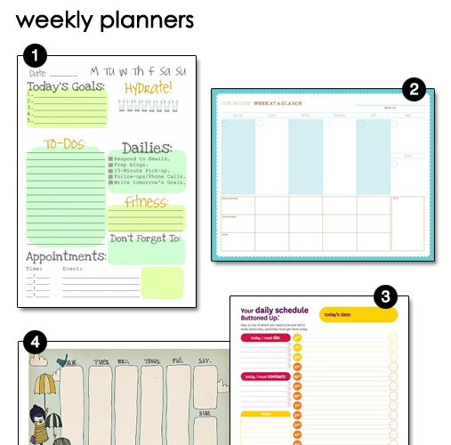Free Downloadable Weekly Planners  Money Saving Mom Weekly