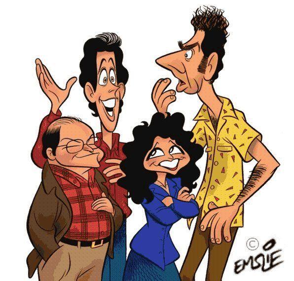 95d8ac2f7 Seinfeld cartoon. | Seinfeld Art | Celebrity caricatures, Caricature ...