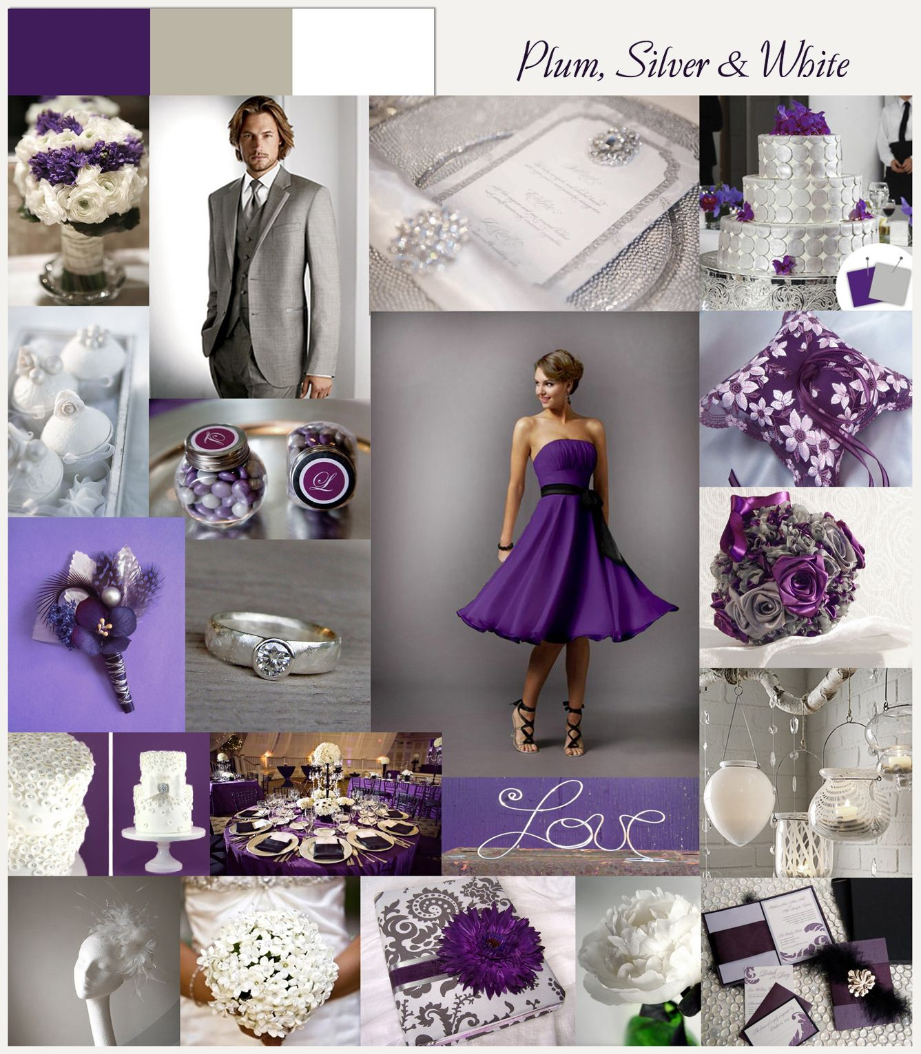 Love In The Big Easy Color Challenge Plum Silver White