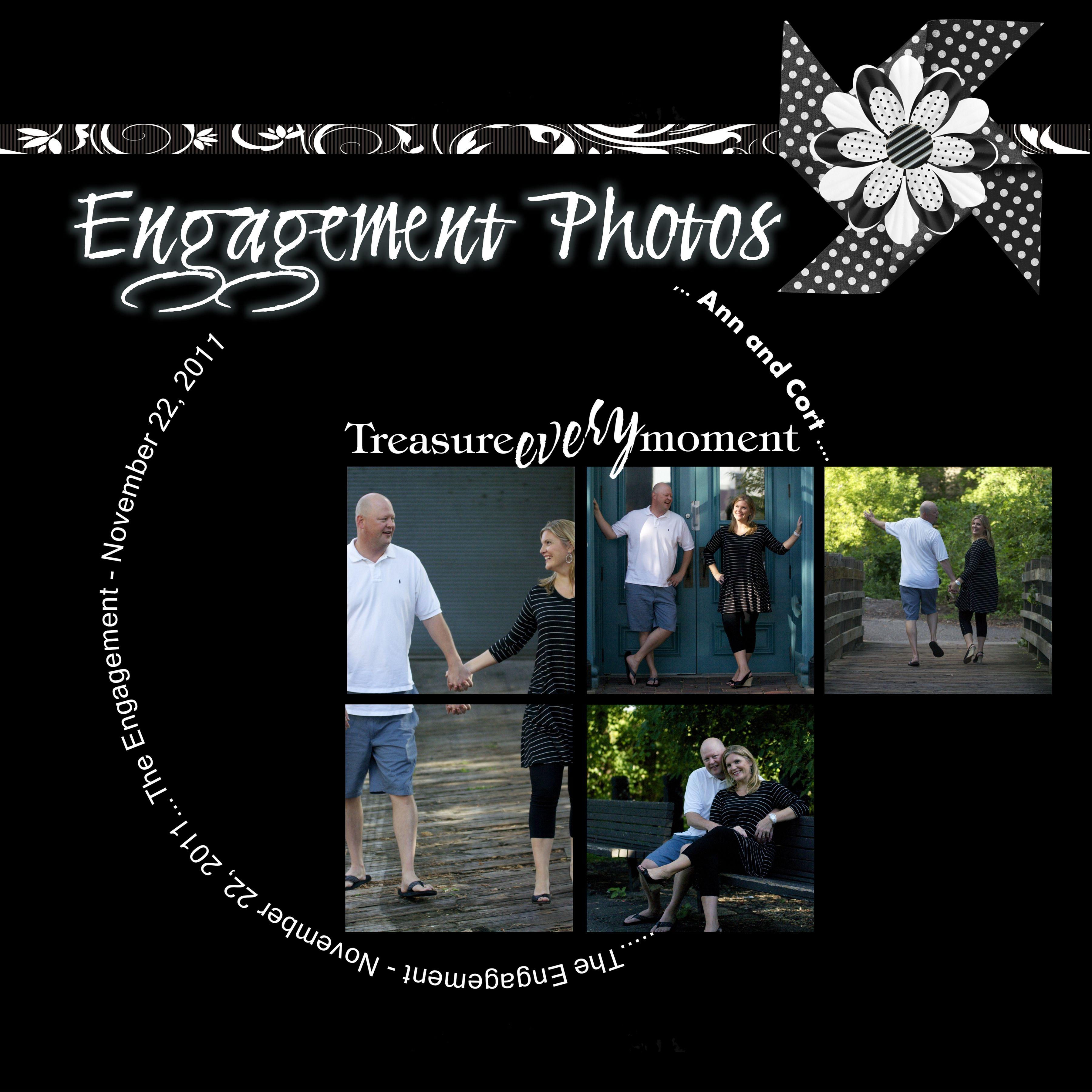 Scrapbook ideas engagement - Layout Engagement Photos