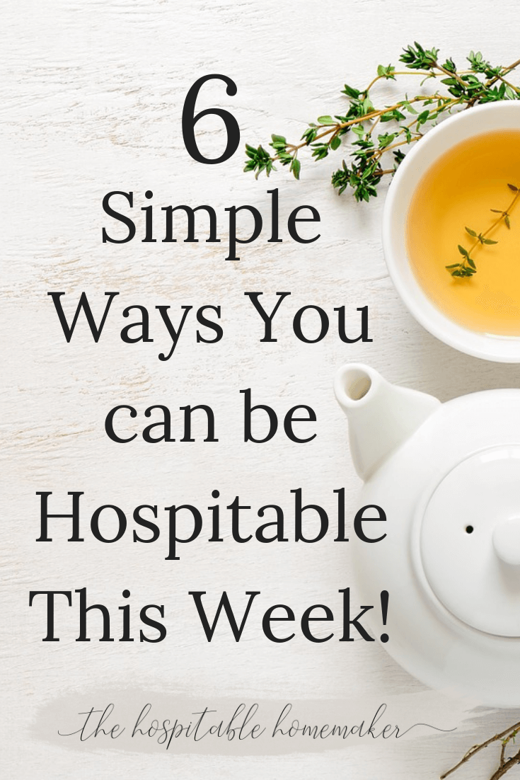 6 Practically Simple Hospitality Ideas - Life in Community