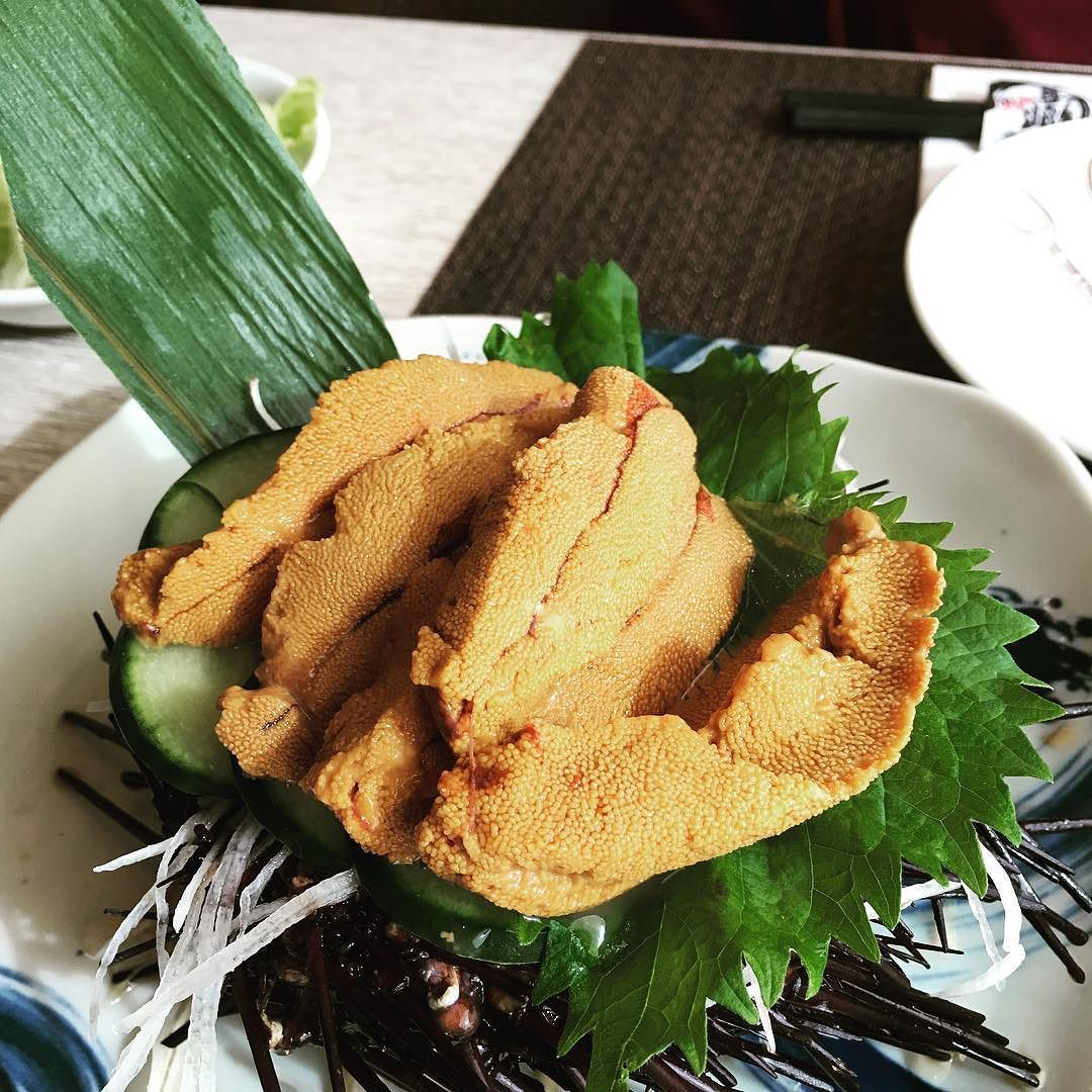 Freshly Opened  #uni #seaurchin #雲丹 by karzy_cl