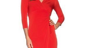 1210122red_jersey wrap dress M and Co