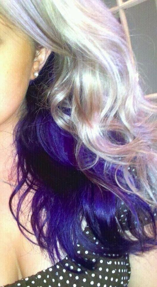 Blonde With Violet Underneath Purple Underneath Hair Hair Styles Purple Hair