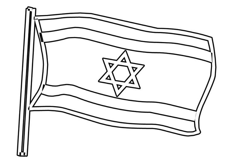 Coloring Pages Israel Google Search Flag Coloring Pages