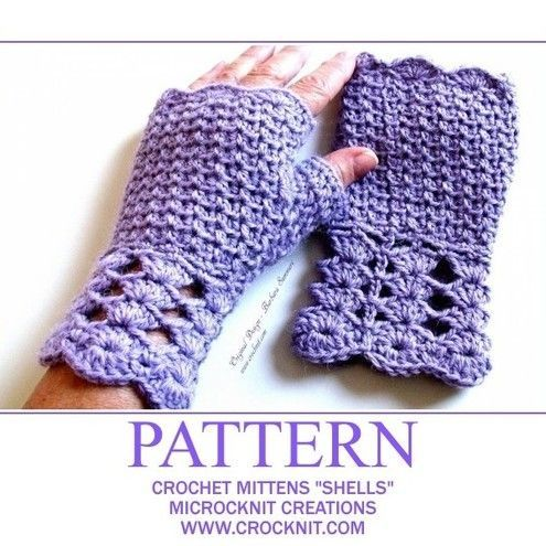 free crochet patterns to print | EASY CROCHET PATTERNS MITTENS ...