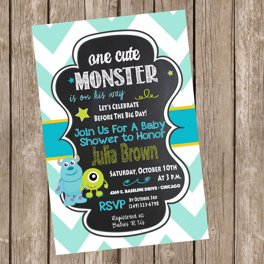 Monsters baby shower invitation monster baby shower invite monsters inc baby shower invitation by trishatreedesigns on etsy httpsetsylisting286175839monsters inc baby shower invitation filmwisefo
