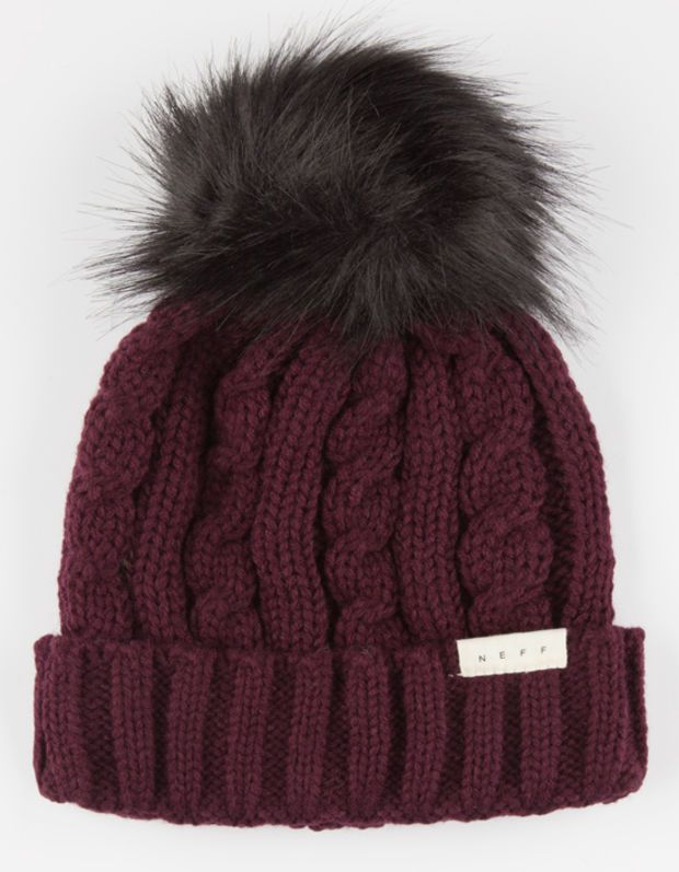 dc56258fe3e04 Neff Penny Beanie Burgundy One Size For Women 26524032001
