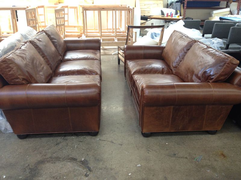 Superbe These Beautiful Pieces Are About To Take A Road Trip To Dallas TX! Tailored  In Brompton Classic Vintage Leather Are The 84u2033 Langston Leather Sofa And  The ...