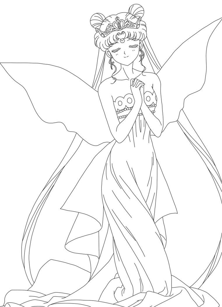 Princess Serena Lineart By Teamhawksskyfighters D4a4goq Jpg 761 1050 Sailor Moon Coloring Pages Moon Coloring Pages Princess Coloring Pages
