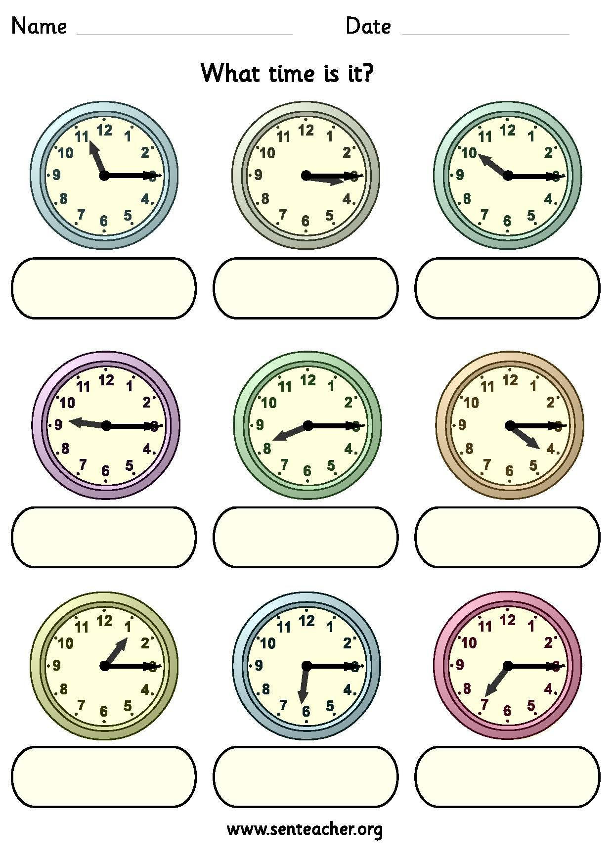 Quarter Past Clock Worksheets   Printable Worksheets and Activities for  Teachers [ 1753 x 1240 Pixel ]