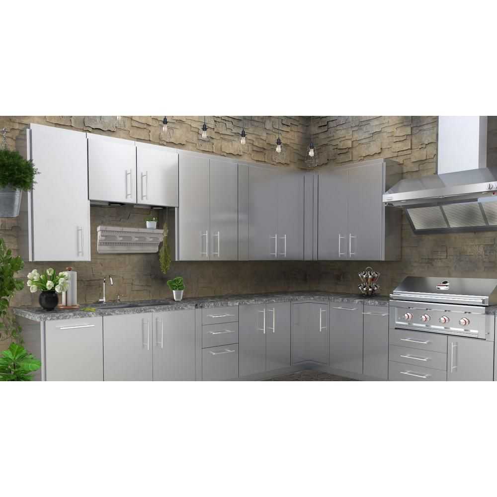Sunstone Stainless Steel 12 In X 42 In X 14 In Outdoor Kitchen Cabinet Full Height Door Corner Cabinet With 3 Shelves Swc12sls Outdoor Kitchen Cabinets Kitchen Remodel Small Kitchen Renovation