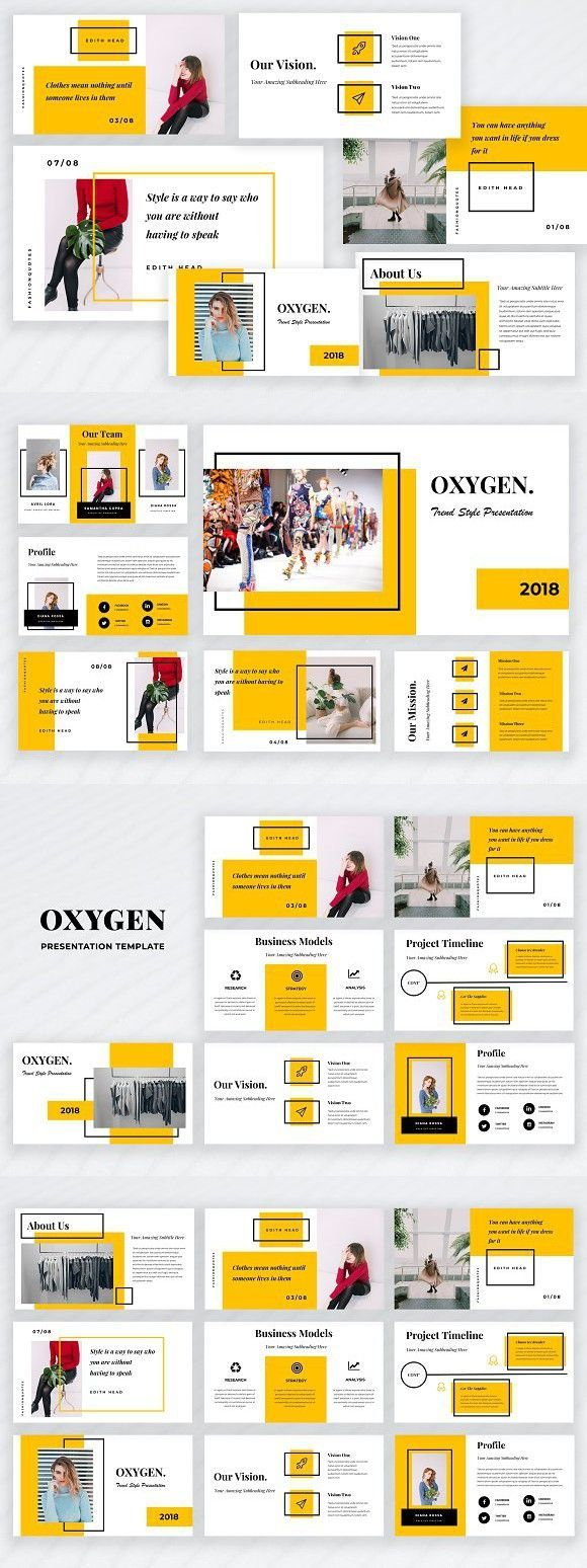 Oxygen Powerpoint Template #softwaredesign