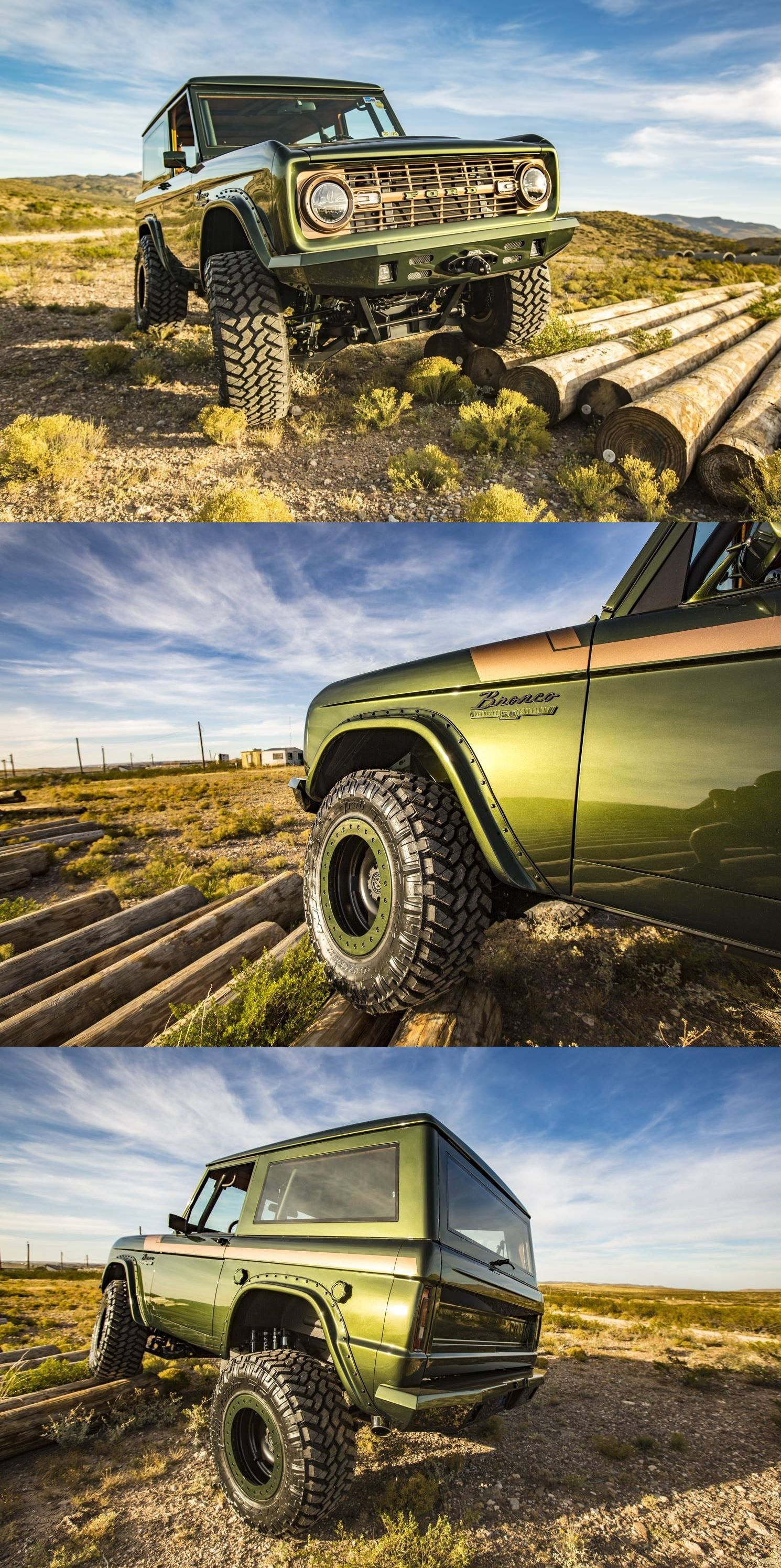 Nitto Grapper Tires On Green Lifted Ford Bronco Photo By