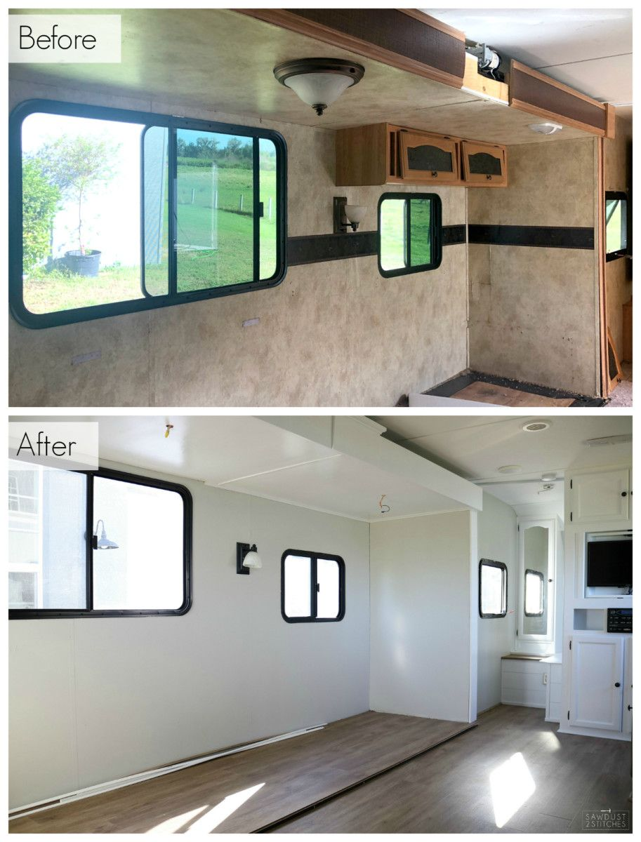 R.V. Makeover - Sawdust 2 Stitches #rvliving