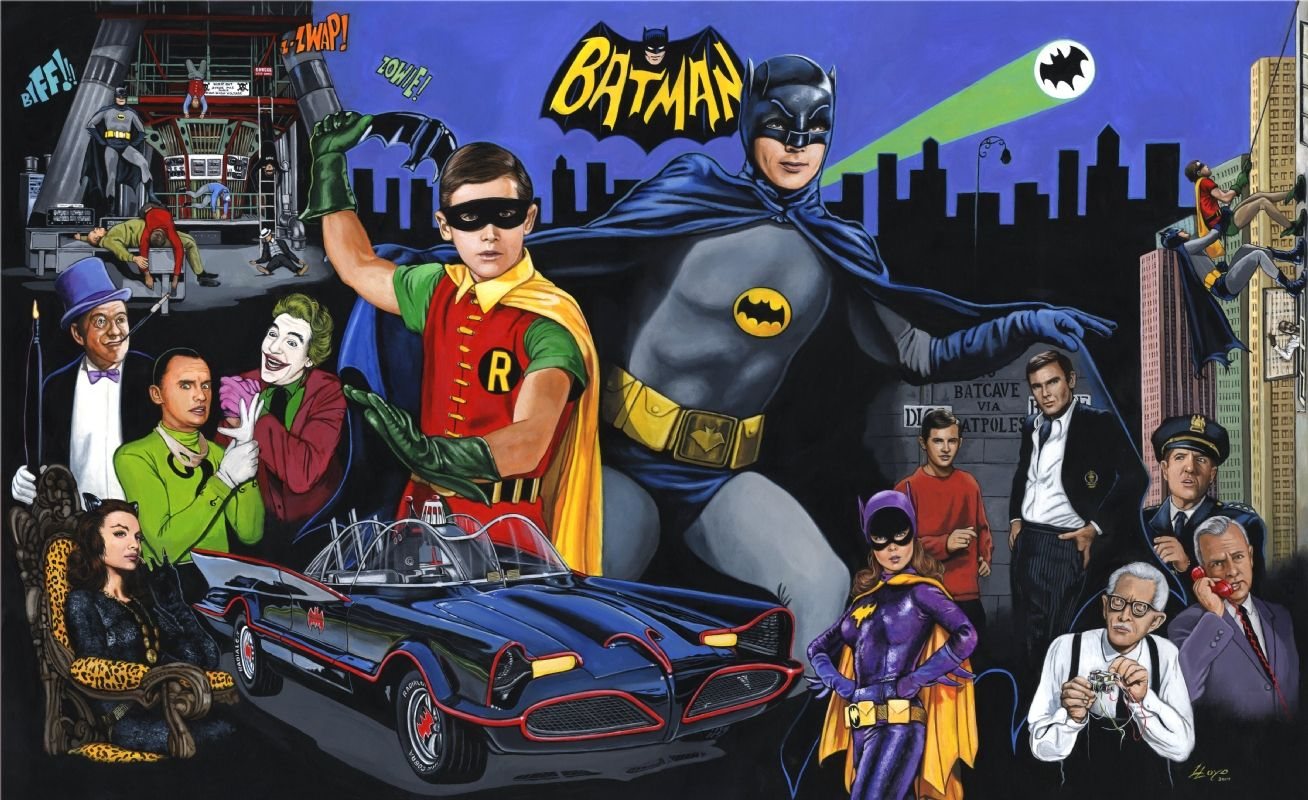 1966 Batman, in Ed LloydGragg's Ed Lloyd art for sale Comic Art Gallery Room