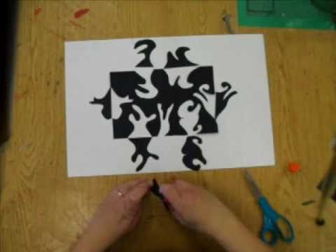 4th 6th grade positive and negative space design art room videos