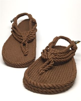 Jester Style Rope Sandal In Cafe Color Rope Sandals Diy Sandals Fashionable Snow Boots