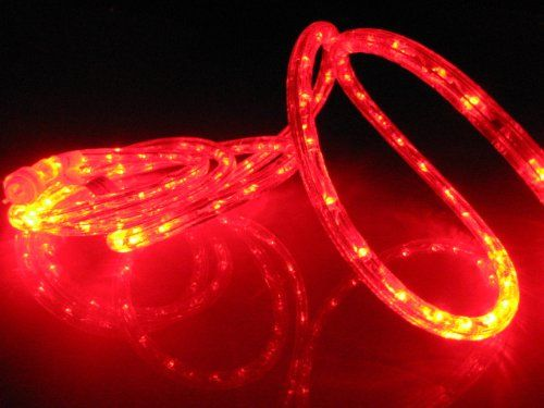 10ft Rope Lights Vivid Red Led Rope Light Kit 1 0 Led Spacing Christmas Lighting Outdoor Rope Lighting Led Rope Lights Outdoor Rope Lights Rope Lights