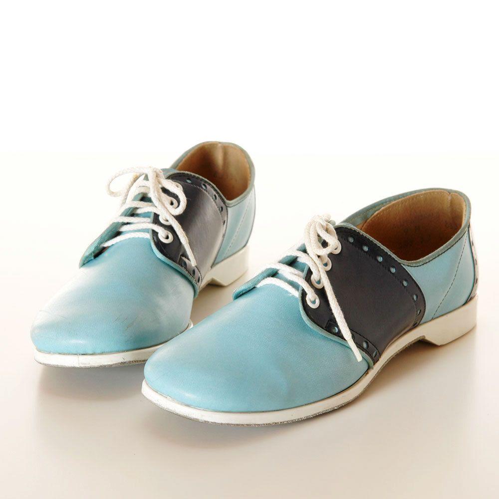 7dd79c4f3df 1960s Blue Bowling Shoes / Vintage Saddle Shoes via Etsy.   Bowling ...