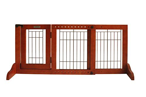 Simply Plus Wooden Pet Gate Freestanding Pet Dog Gate For Indoor Home  Office Use Keeps Pets