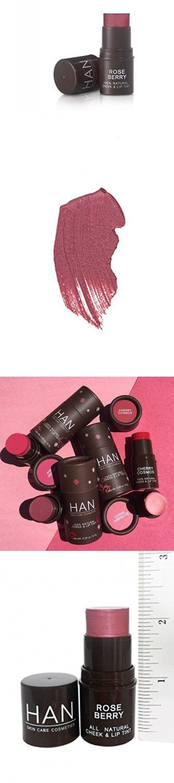 Han Skin Care Cosmetics Natural Cheek Lip Tint Rose Berry Lip Tint Natural Cosmetics Skin Care