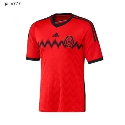 51384f6614d adidas Men s Mexico Away Jersey Red World Cup Soccer 2014 XL Mexicana Futbol