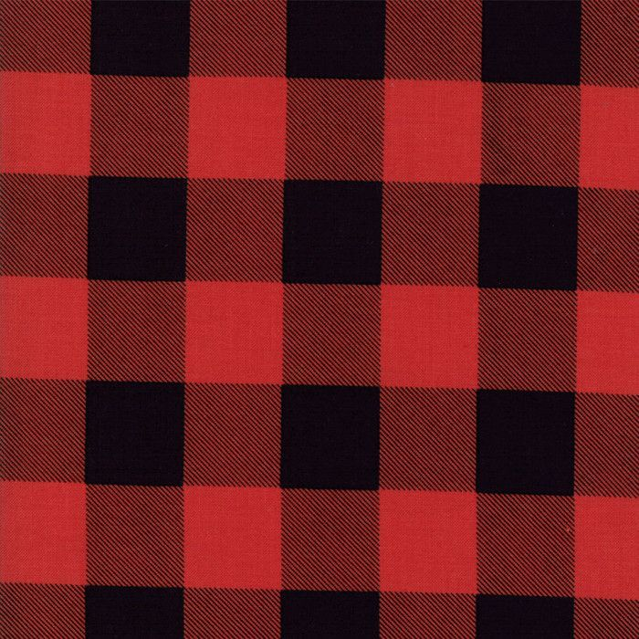Hometown Christmas Red Check Yardage by Sweetwater for Moda Fabrics