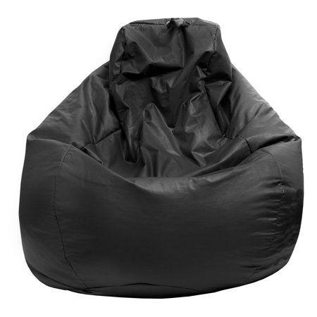 Tremendous Gold Medal Medium 112 Inch Black Faux Leather Teardrop Bean Evergreenethics Interior Chair Design Evergreenethicsorg
