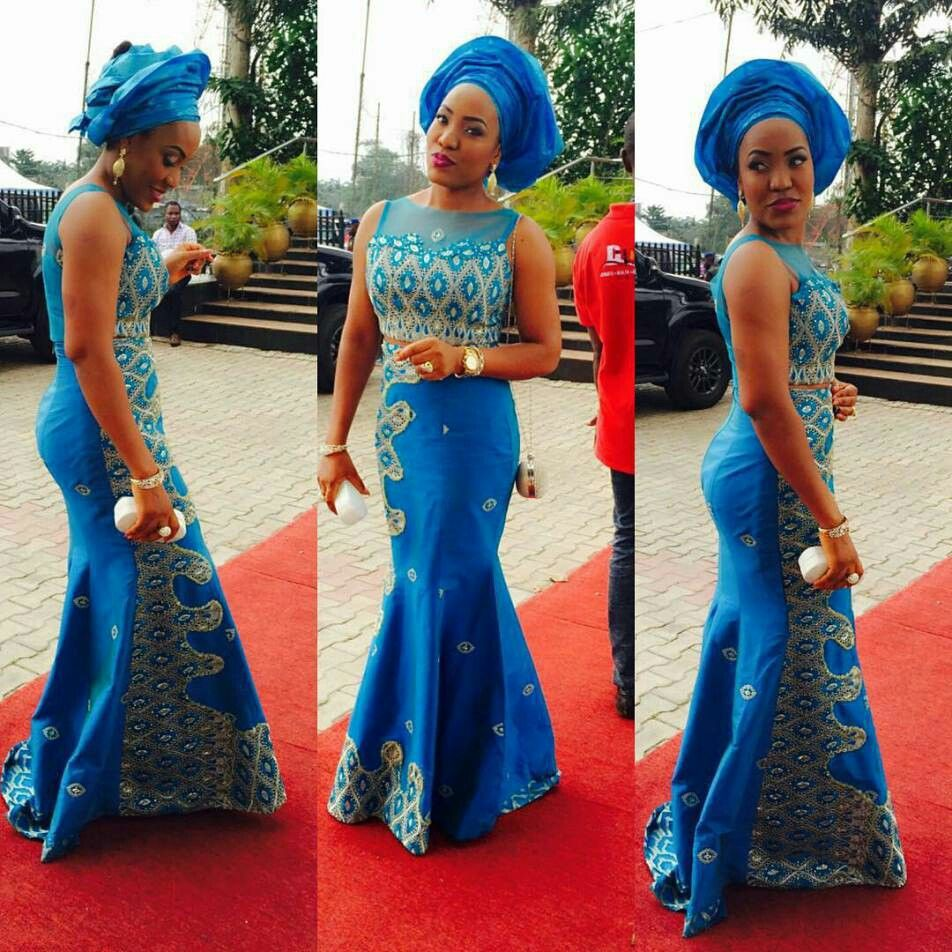 Blue lace ladies african fashion pinterest aso ebi aso and