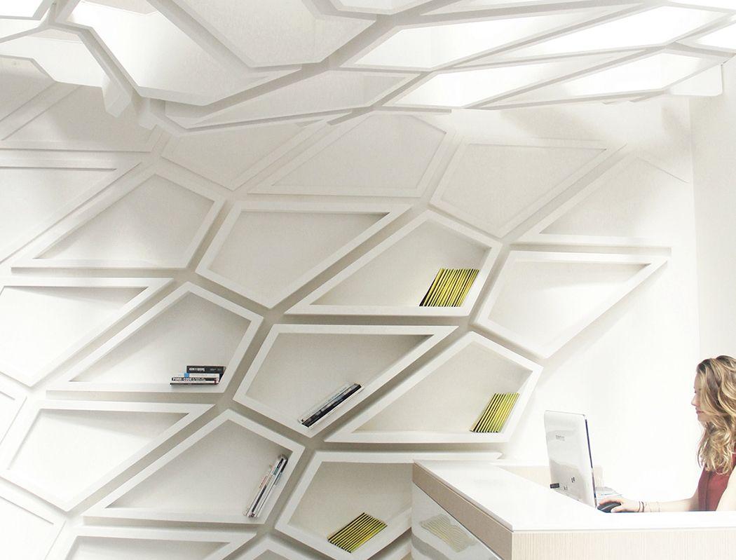 Futuristic Bookshelf Design Helix 1