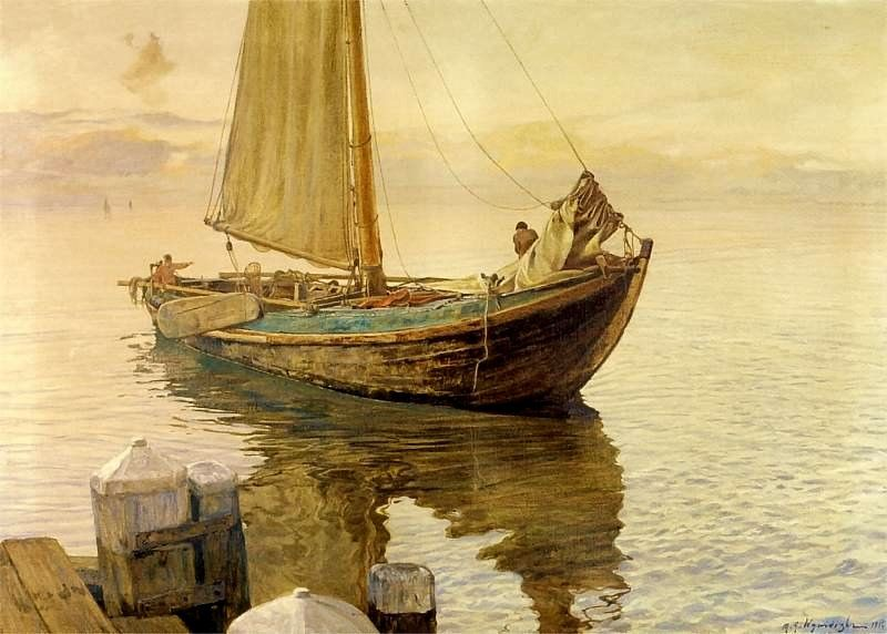 Wywiorski, Michal (1861-1926) - 1916 Fishing Boat (Maritime Museum, Gdansk, Poland)   Flickr - Photo Sharing!