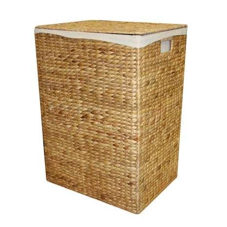 Hyacinth Rectangle Laundry Basket Laundry Hamper Washing Basket