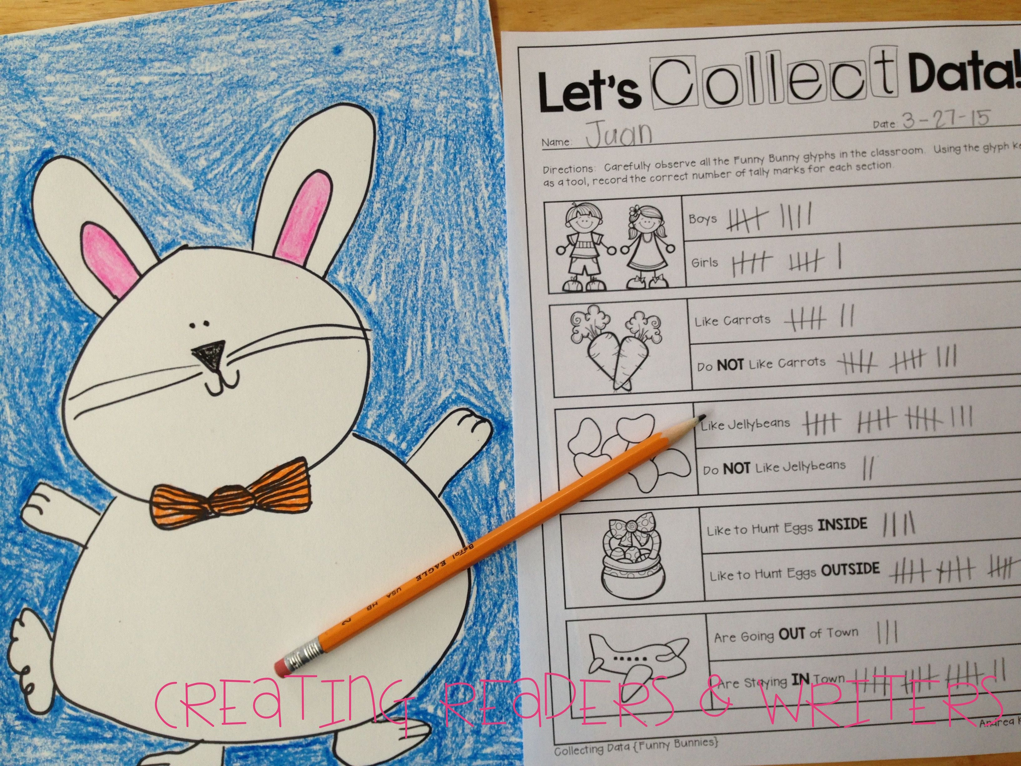 Integrate Math Into Your Easter Lessons With This Fun Funny Bunny Glyph Amp Graph Activity It