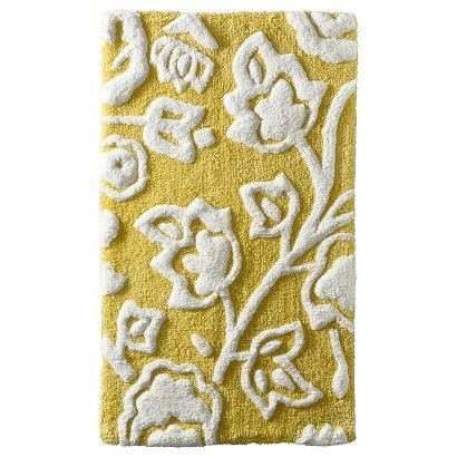 Threshold Floral Bath Rug Yellow Guest Bathroom Bathroom Ideas