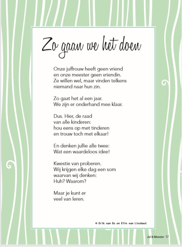 Hedendaags Gedicht: Zo gaan we het doen | Gedichten RT-22