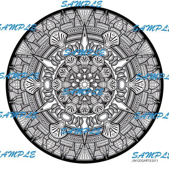 Mandala 33 Super High Resolution Image 300dpi 50cm x 50cm Only 3.99 USD!