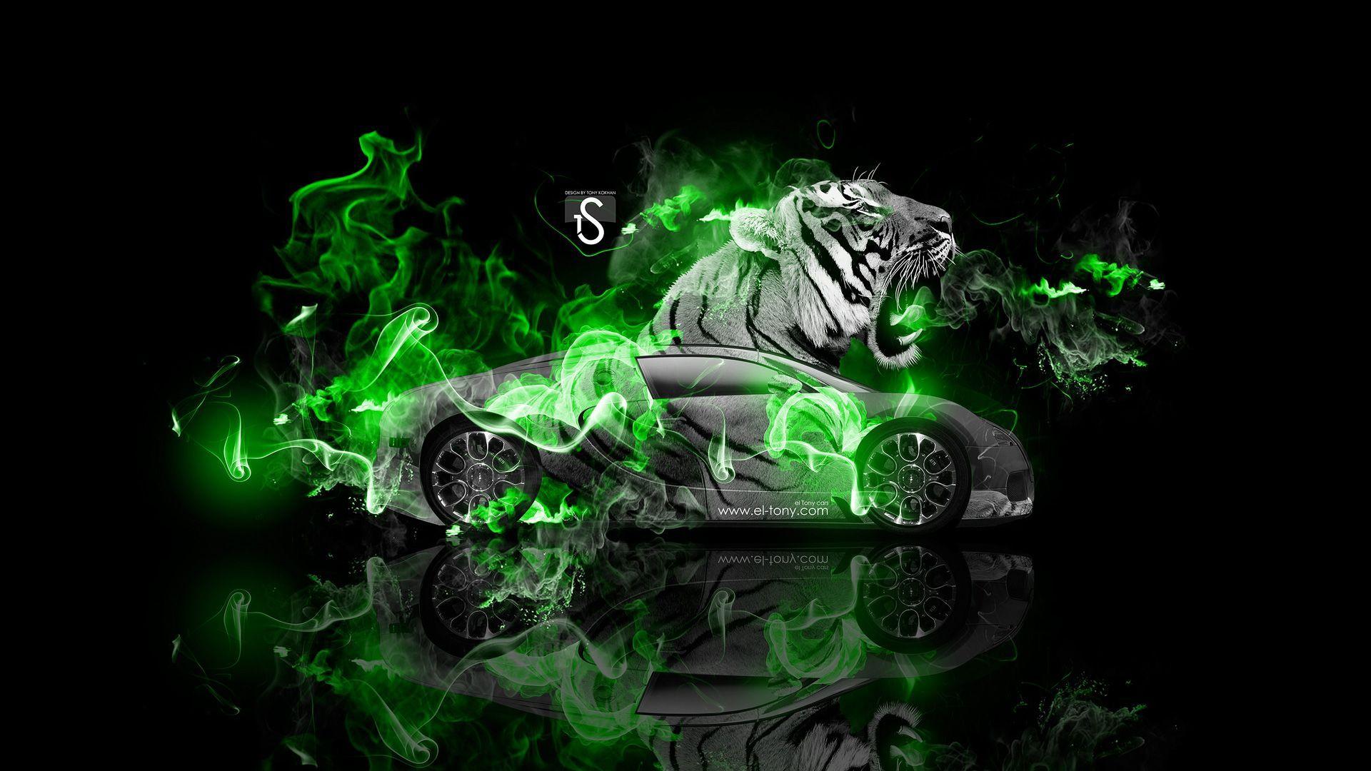 Genial Bugatti Veyron Fantasy Tiger Fire Car 2014 « El Tony
