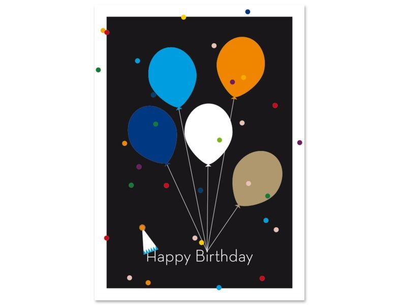 "Birthday Card ""BalloonMail"" by Held&Lykke"