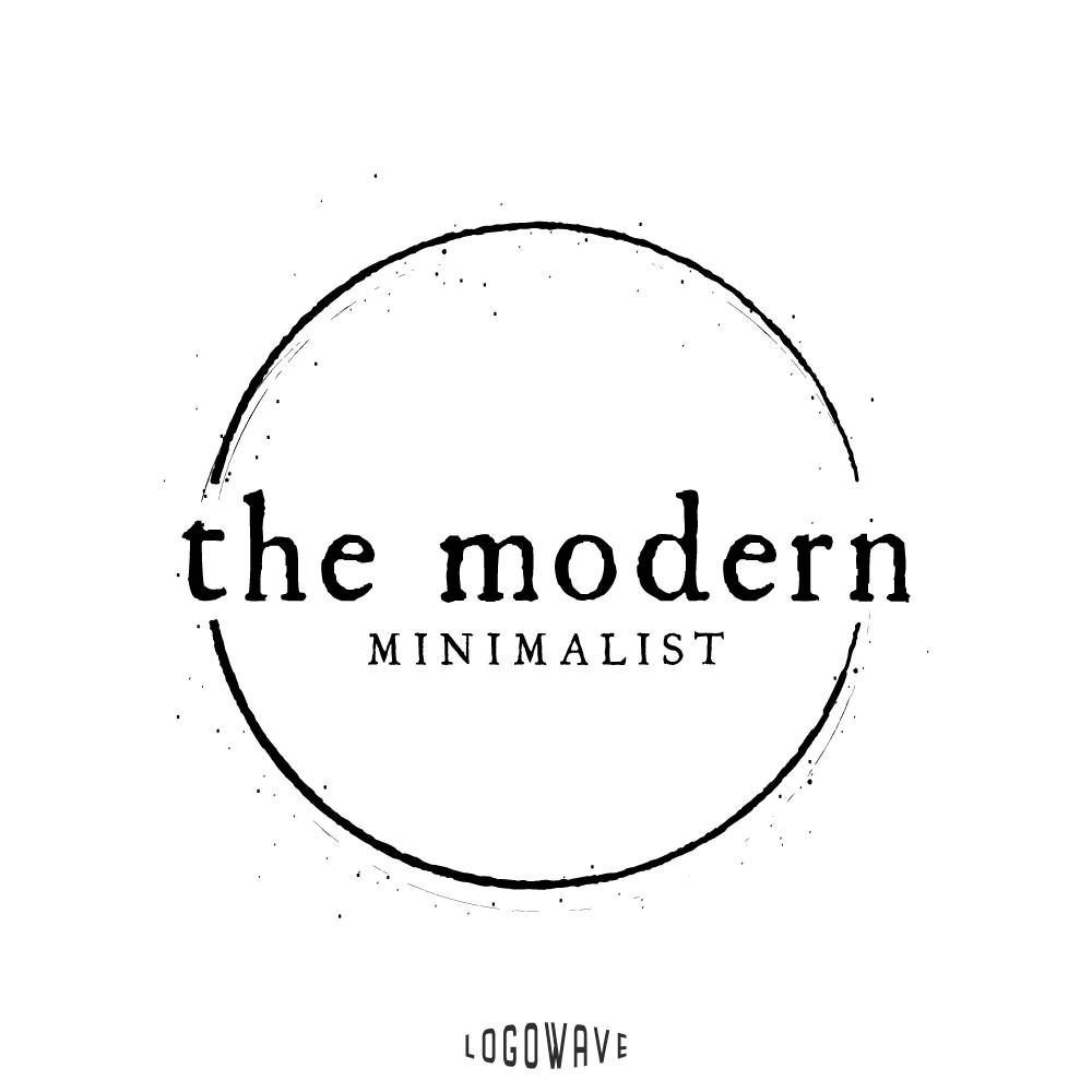 Minimal Logo Minimalist Round Circular Stamp Badge Modern Simple Shop Business By Logowave On Etsy