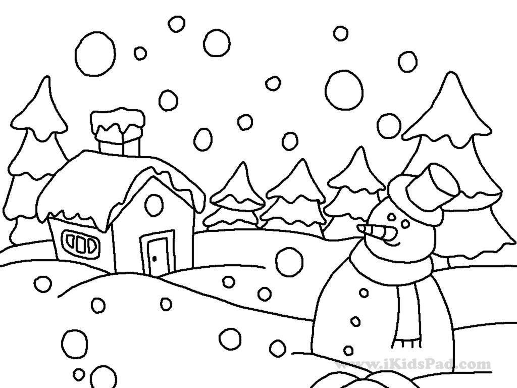 Simple Snowflake Line Art : Coloring pages winter free