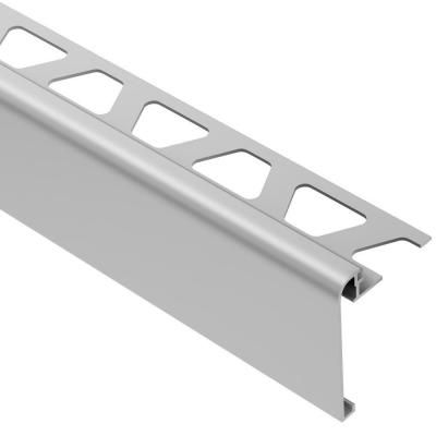 Schluter Rondec Step Satin Anodized Aluminum 3 8 In X 8 Ft 2 1 2