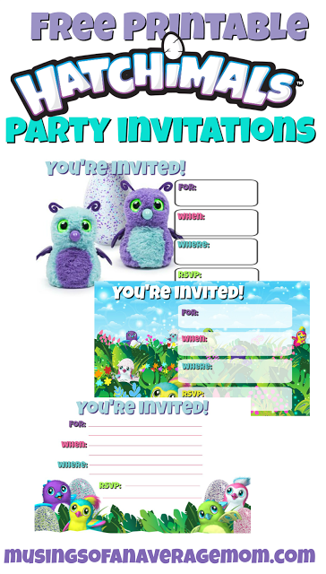 hatchimals invitations isabella pinterest party party