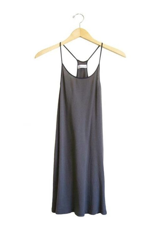 2270f6c08722d Lacausa Racer slip dress. Available in black, evergreen, siesta and white.  PIPE AND ROW