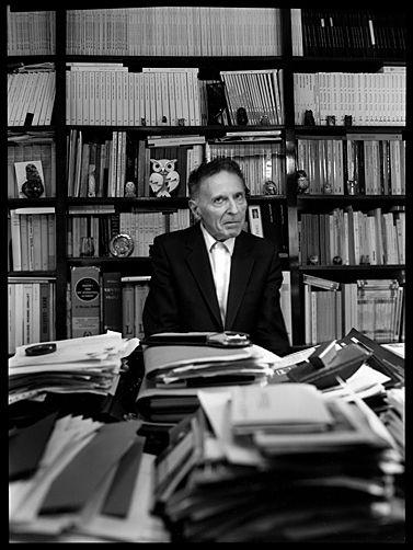 Didier Anzieu. Photo Mélanie Gribinski.( 24 mars 1994)