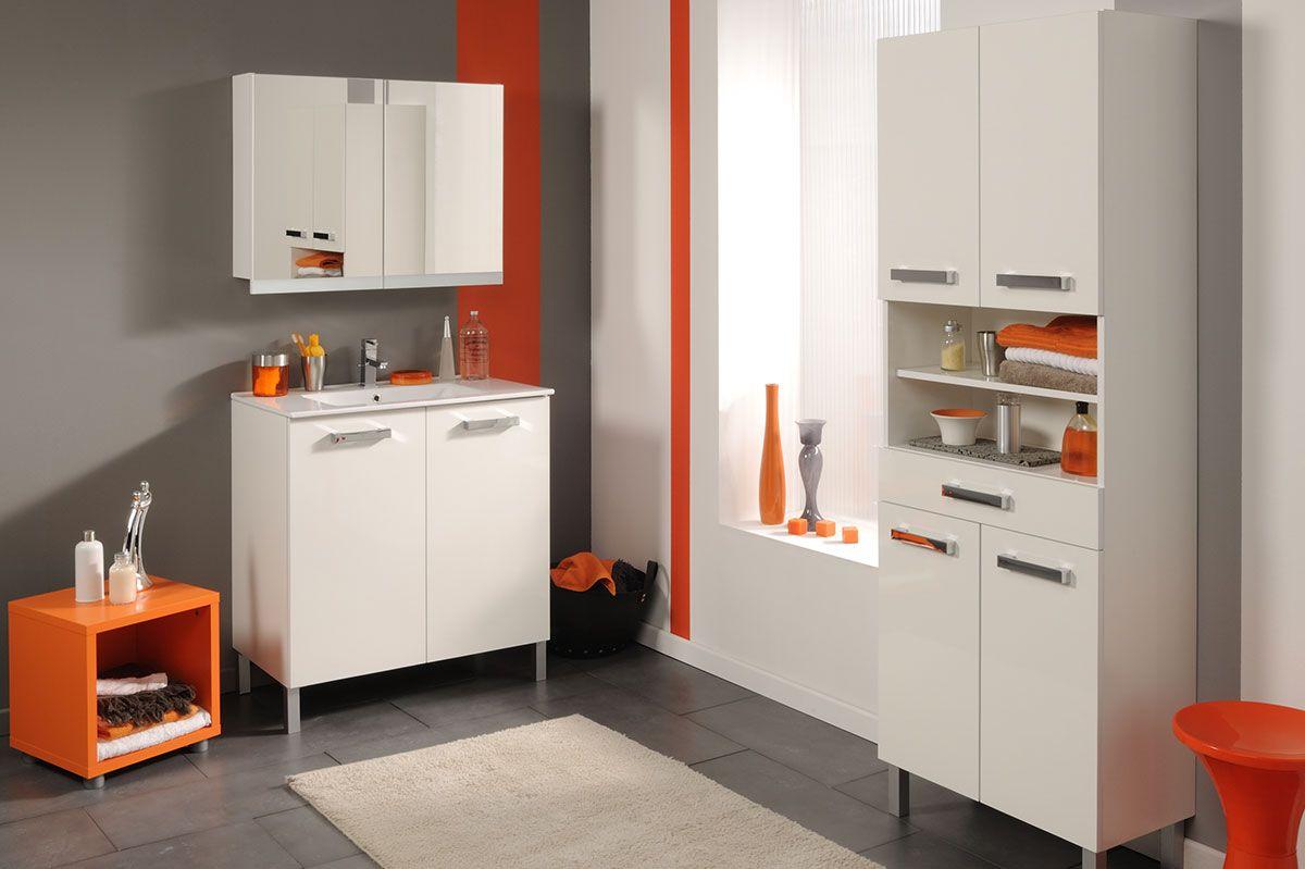 Armoire De Toilette Blanc 80 Cm Dixie Meuble Haut Armoire Moderne Armoire Blanche