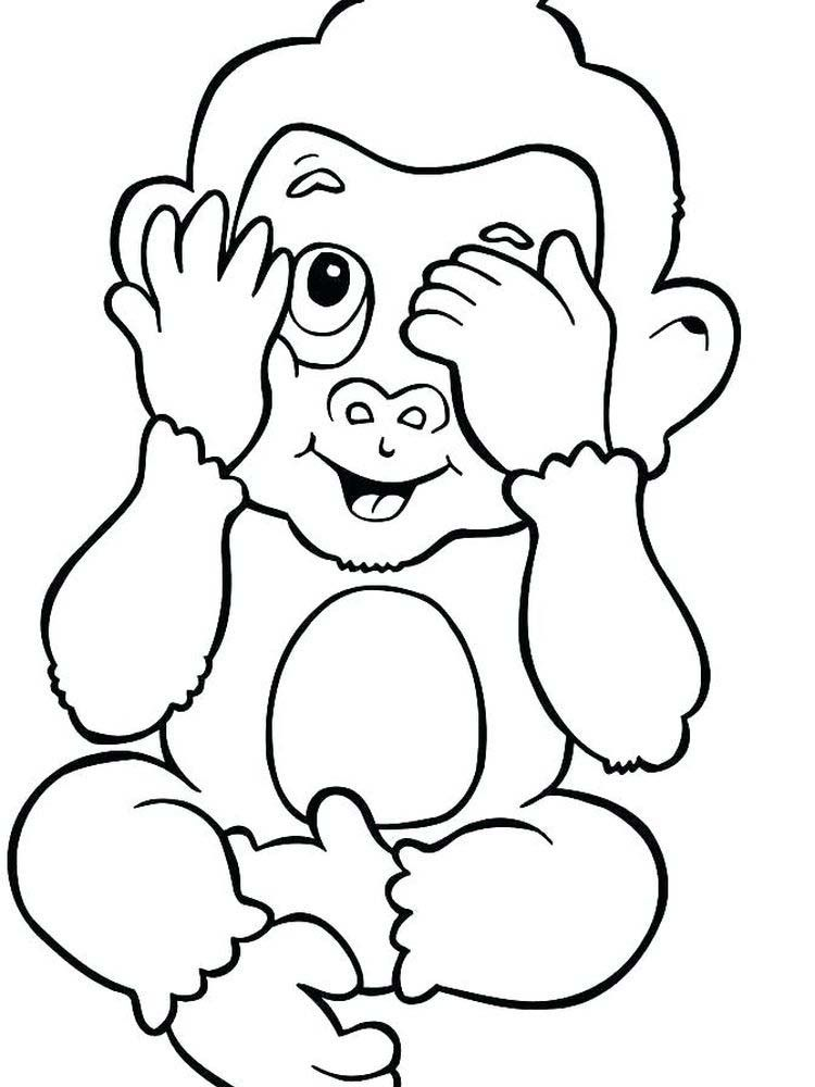 Cartoon Monkey Coloring Pages Monkeys Are A Term For All Members Of Primates That Are Not Prosimi Monkey Coloring Pages Owl Coloring Pages Cute Coloring Pages